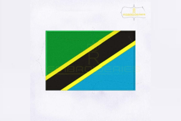 Tanzania Flag Africa Embroidery Design By RoyalEmbroideries