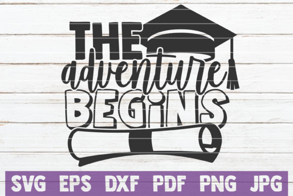 Download Free The Adventure Begins Graphic By Mintymarshmallows Creative Fabrica for Cricut Explore, Silhouette and other cutting machines.