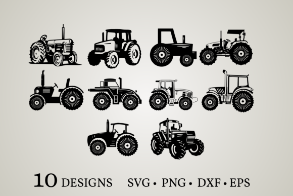 Download Free Tractor Bundle Graphic By Euphoria Design Creative Fabrica for Cricut Explore, Silhouette and other cutting machines.