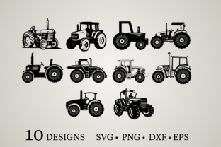 Tractor Bundle Graphic Crafts By Euphoria Design