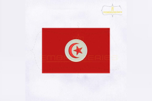 Tunisia Flag Africa Embroidery Design By RoyalEmbroideries
