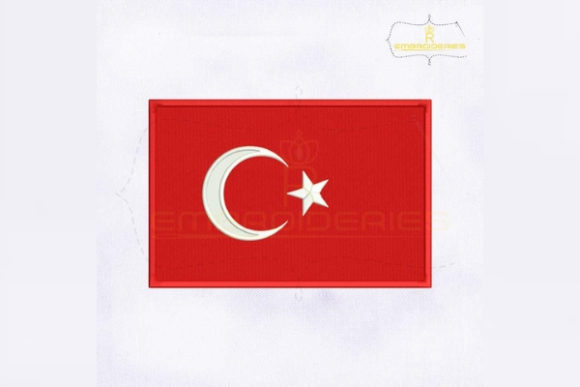 Turkey Flag Asia Embroidery Design By RoyalEmbroideries
