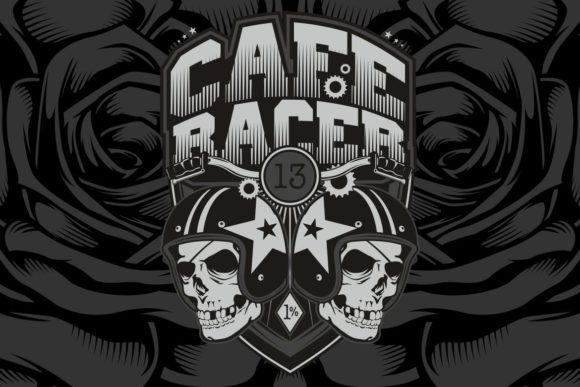 Download Free Two Skull Helmet Cafe Racer Vector Graphic By Epic Graphic for Cricut Explore, Silhouette and other cutting machines.