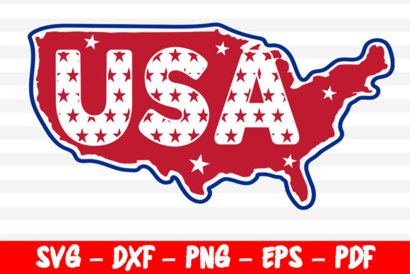Download Free Usa Map Independence Day 4th Of July Graphic By Bestsvgfiles for Cricut Explore, Silhouette and other cutting machines.