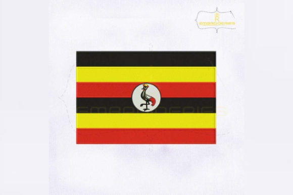 Uganda Flag Africa Embroidery Design By RoyalEmbroideries