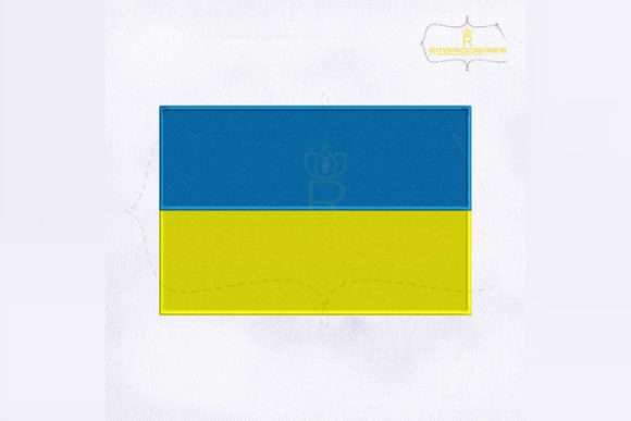 Ukraine Flag Europe Embroidery Design By RoyalEmbroideries