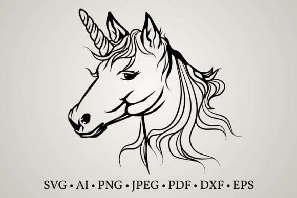 Download Free Unicorn Face Graphic By Euphoria Design Creative Fabrica for Cricut Explore, Silhouette and other cutting machines.