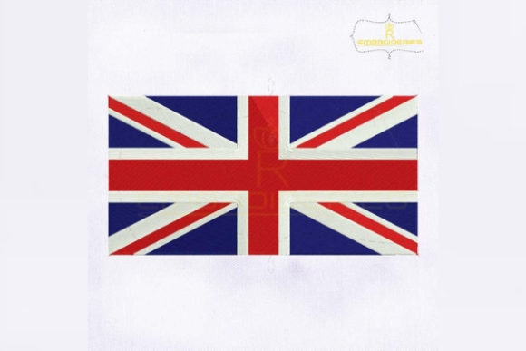 United Kingdom Flag Europe Embroidery Design By RoyalEmbroideries
