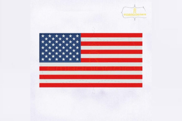 United States of America Flag Nordamerika Stickdesign von royalembroideries