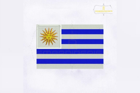 Uruguay Flag South America Embroidery Design By RoyalEmbroideries