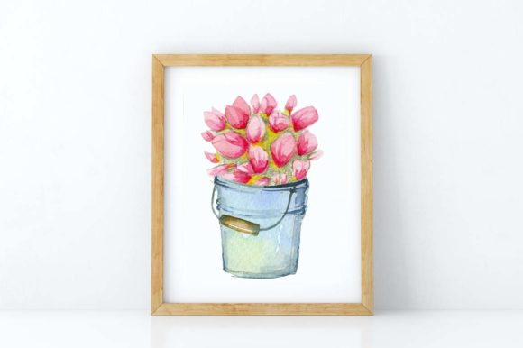 Watercolor Flower Shop - Mother's Day Graphic Design