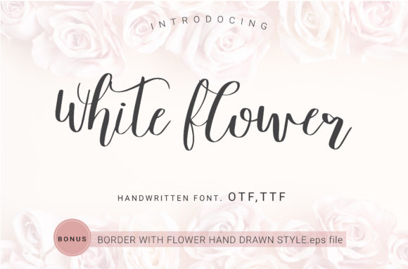 Download Free White Flower Font By Artdee2554 Creative Fabrica for Cricut Explore, Silhouette and other cutting machines.