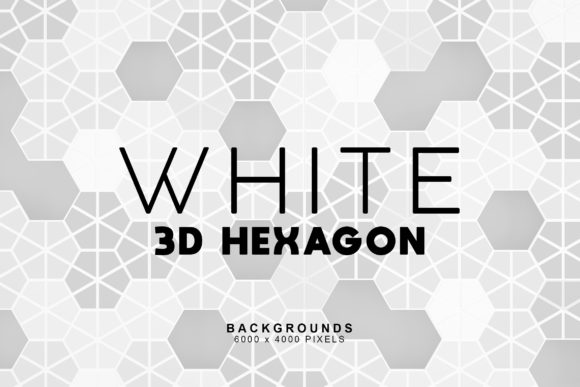 Print on Demand: White Hexagon Backgrounds Graphic Backgrounds By ArtistMef