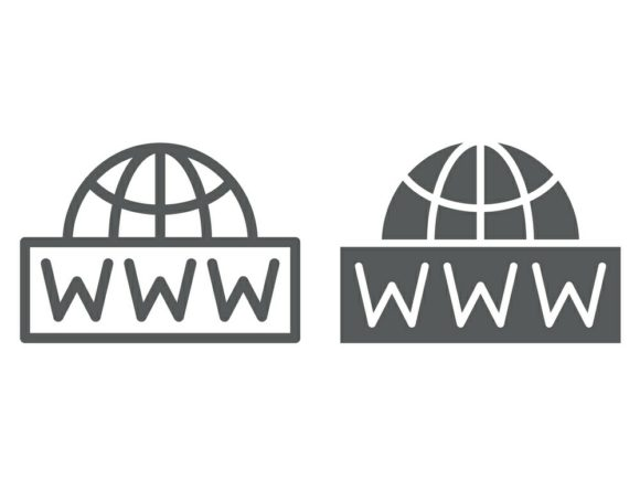 Download Free World Wide Net Line And Glyph Icon Graphic By Anrasoft for Cricut Explore, Silhouette and other cutting machines.