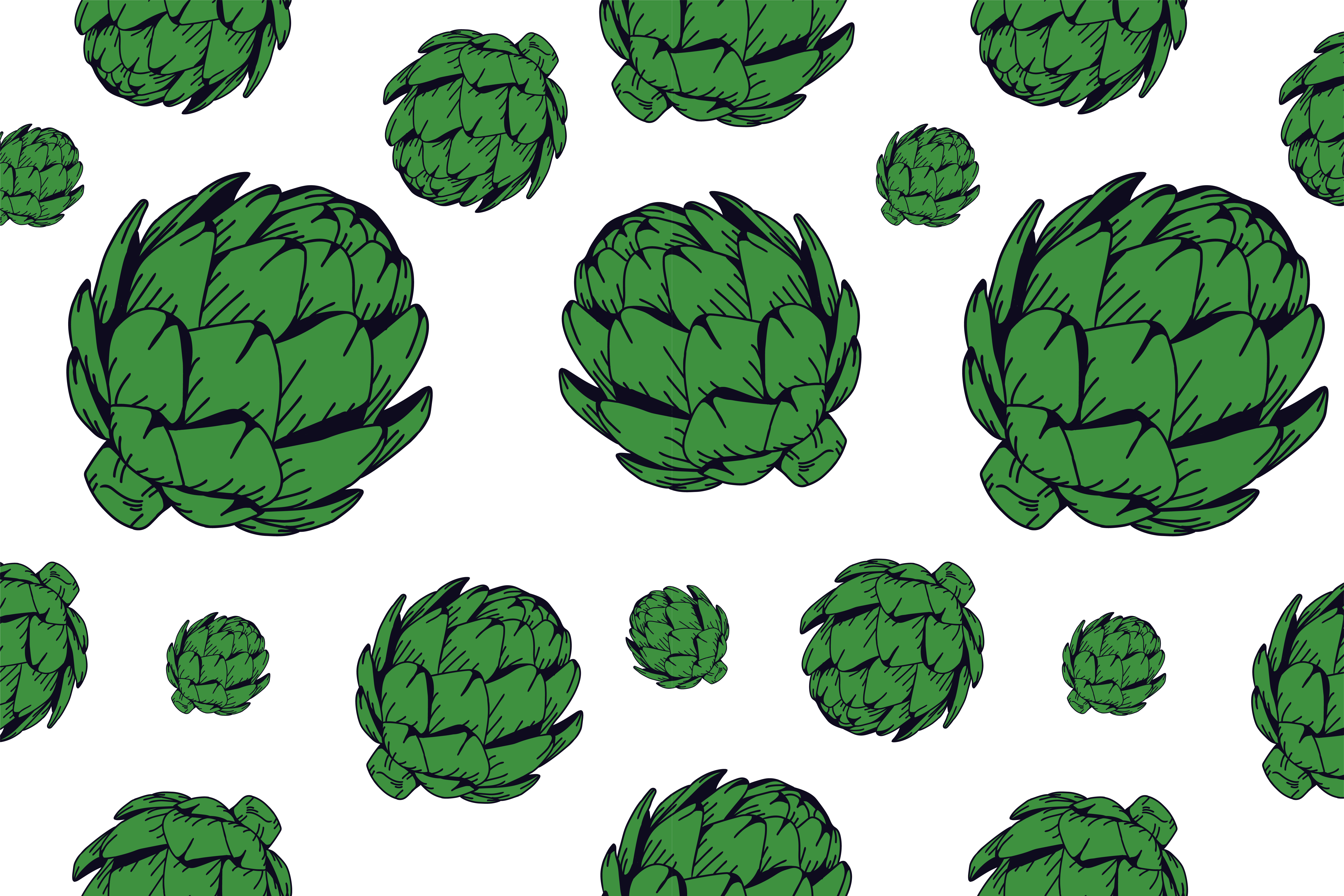 Download Free Arthicoke Pattern Green Graphic By Noory Shopper Creative Fabrica for Cricut Explore, Silhouette and other cutting machines.
