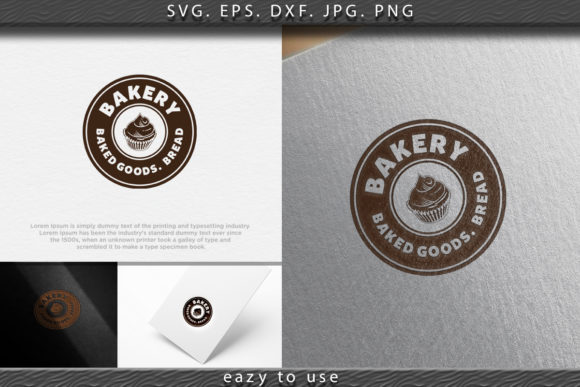 Download Free Cupcake Vintage Bakery Logo Ideas Graphic By Ojosujono96 for Cricut Explore, Silhouette and other cutting machines.