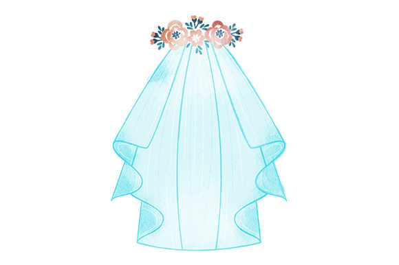 Download Free Wedding Veil With Headband Svg Cut File By Creative Fabrica Crafts Creative Fabrica for Cricut Explore, Silhouette and other cutting machines.