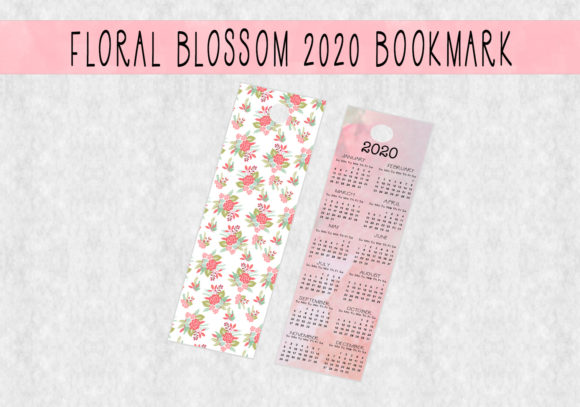 Download Free 2020 Floral Blossom Bookmark Graphic By Capeairforce Creative for Cricut Explore, Silhouette and other cutting machines.