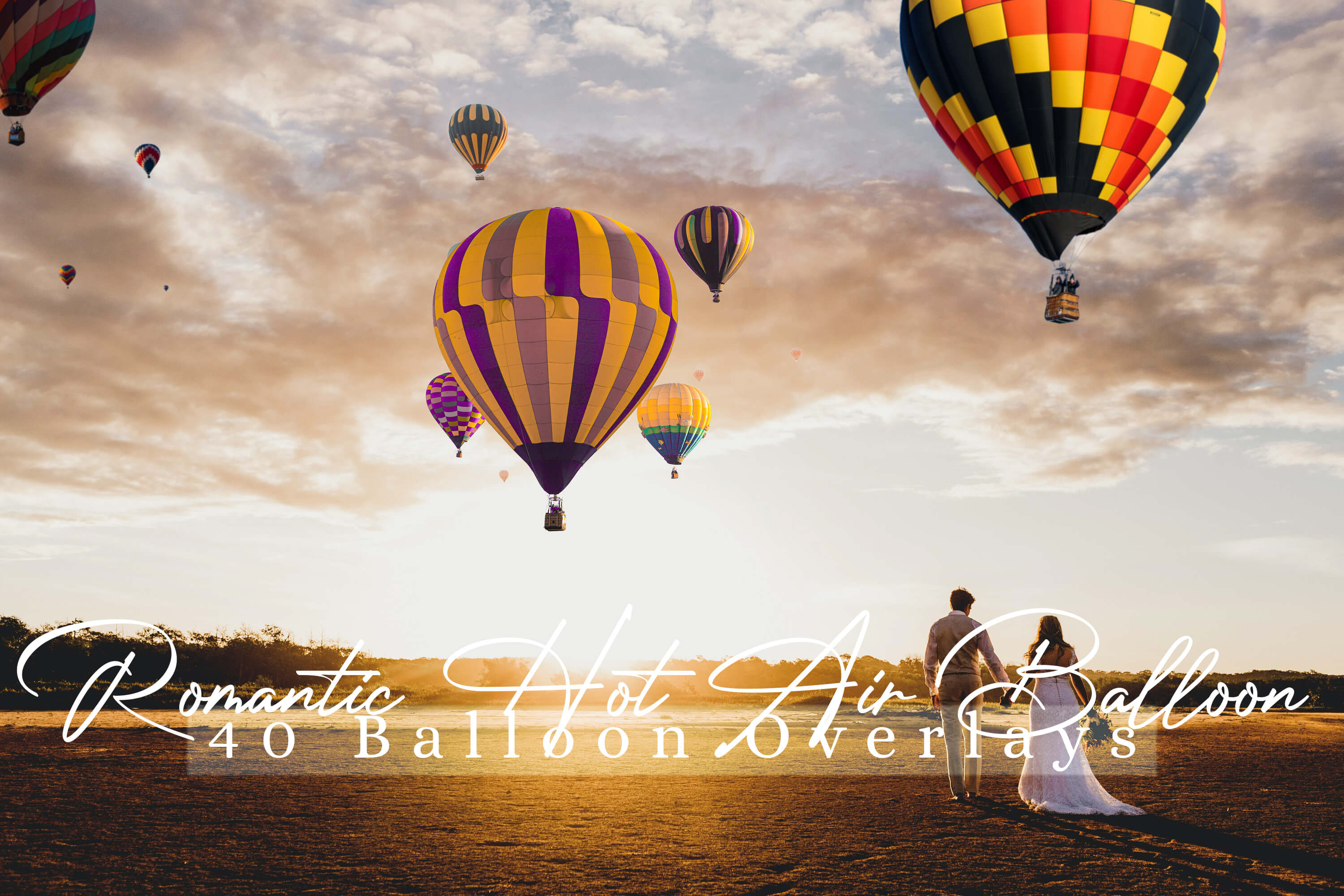 Download Free 40 Romantic Hot Air Balloon Overlays Grafico Por 3motional for Cricut Explore, Silhouette and other cutting machines.