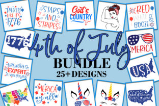 Print on Demand: 4th of July Independence Day Bundle Graphic Crafts By freelingdesignhouse