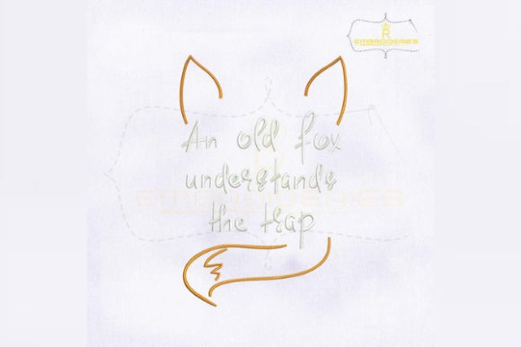 An Old Fox Understands the Trap Wild Animals Embroidery Design By RoyalEmbroideries