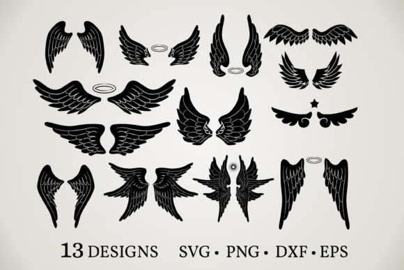 Angel Wings Bundle Graphic