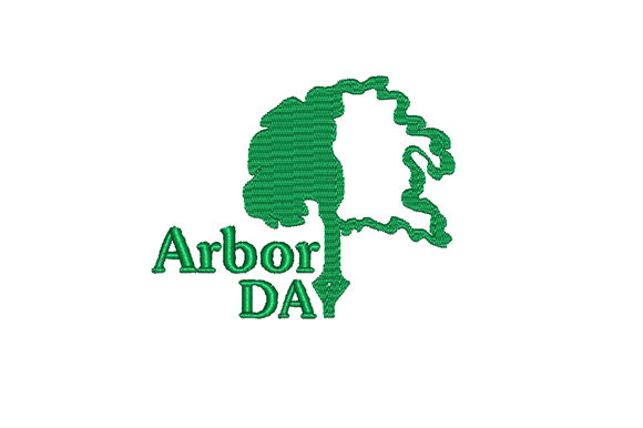 Arbor Day Forest & Trees Embroidery Design By Sun At Night Studios