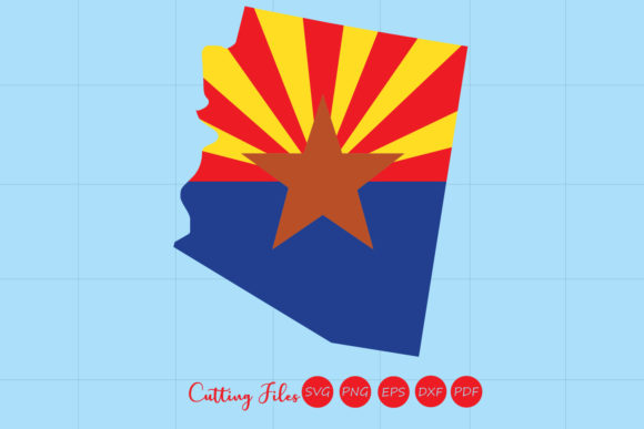 Download Free Arizona State With Flag Background Graphic By Hd Art Workshop for Cricut Explore, Silhouette and other cutting machines.