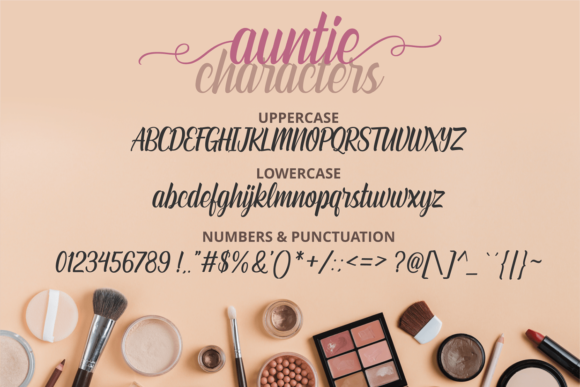 Auntie Font Preview