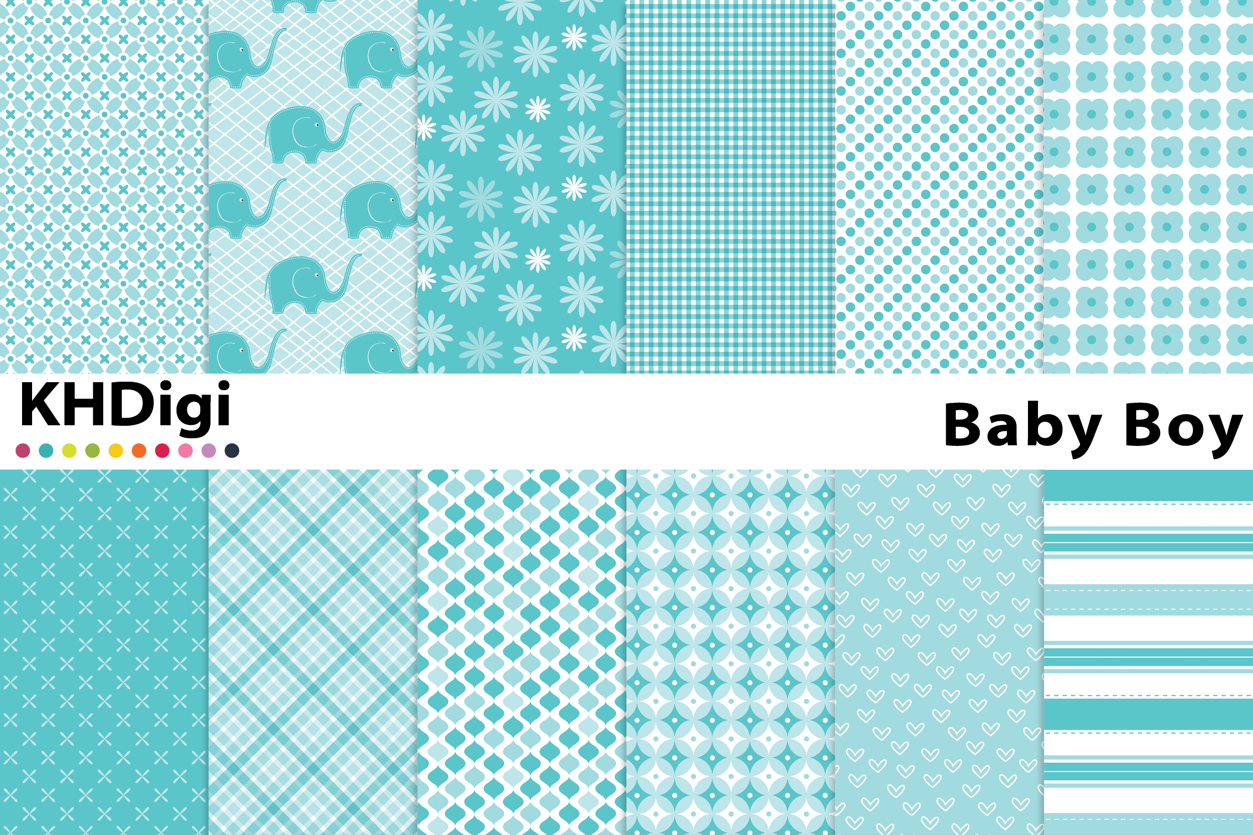 Download Free Baby Boy Blue Digital Paper Graphic By Khdigi Creative Fabrica for Cricut Explore, Silhouette and other cutting machines.