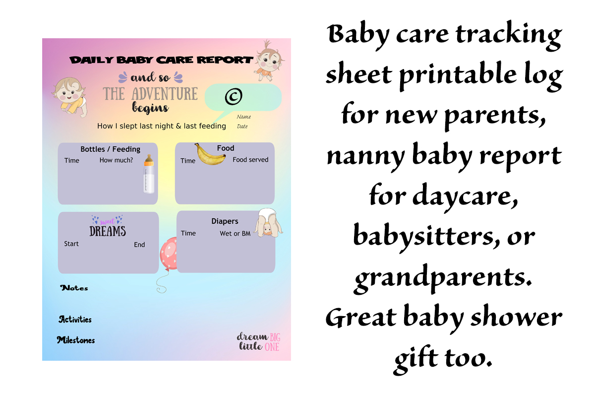 Download Free Baby Care Tracking Sheet Schedule Log Graphic By A Design In for Cricut Explore, Silhouette and other cutting machines.