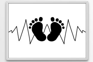 Download Free Baby Feet Baby Heartbeat Graphic By Tanja Dianova Creative Fabrica for Cricut Explore, Silhouette and other cutting machines.