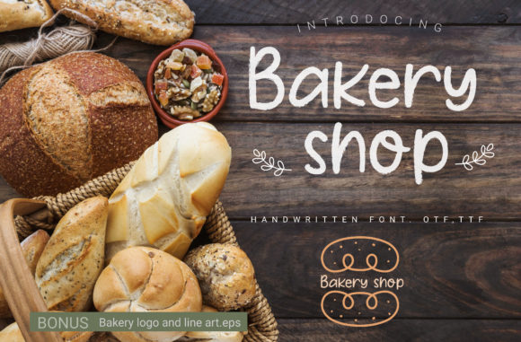 Print on Demand: Bakery Shop Script & Handwritten Font By artdee2554 - Image 1