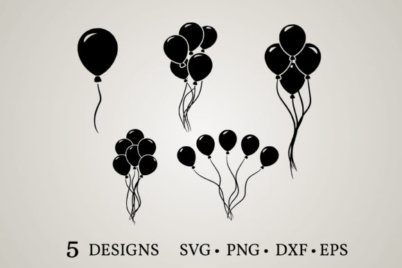 Balloon Clipart Bundle  Graphic Print Templates By Euphoria Design