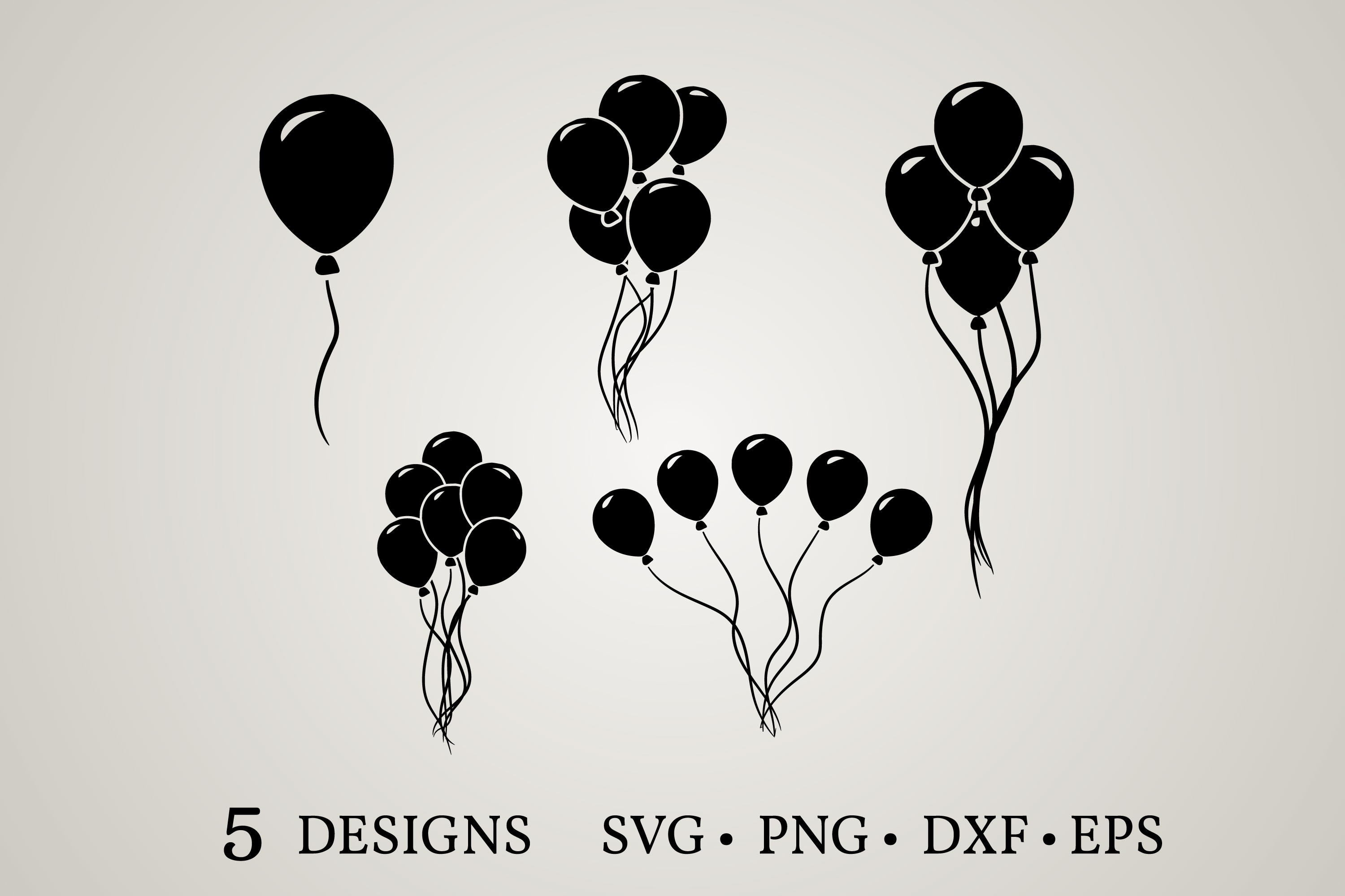 Download Free Balloon Clipart Bundle Graphic By Euphoria Design Creative Fabrica for Cricut Explore, Silhouette and other cutting machines.