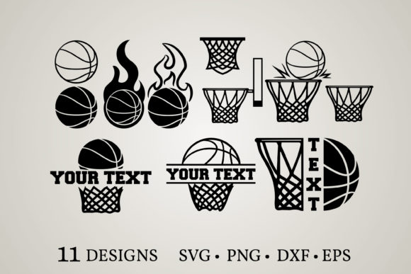 Basketball Bundle  Grafik Druck-Templates von Euphoria Design