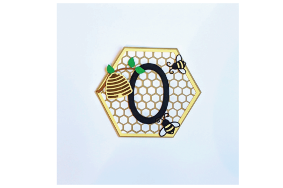 Beehive Banner or Cake Topper Graphic 3D Shapes By Renaissance Mom