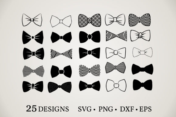 Bow Tie Vector Bundle  Graphic Print Templates By Euphoria Design