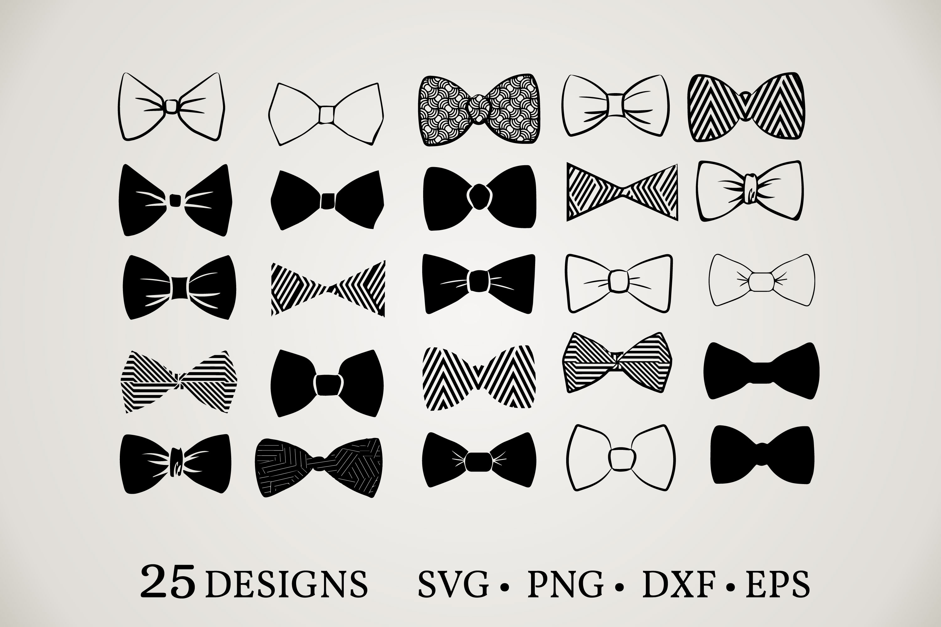 Download Free Bow Tie Vector Bundle Graphic By Euphoria Design Creative Fabrica for Cricut Explore, Silhouette and other cutting machines.