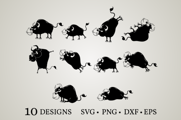 Bull Clipart Bundle Graphic Crafts By Euphoria Design