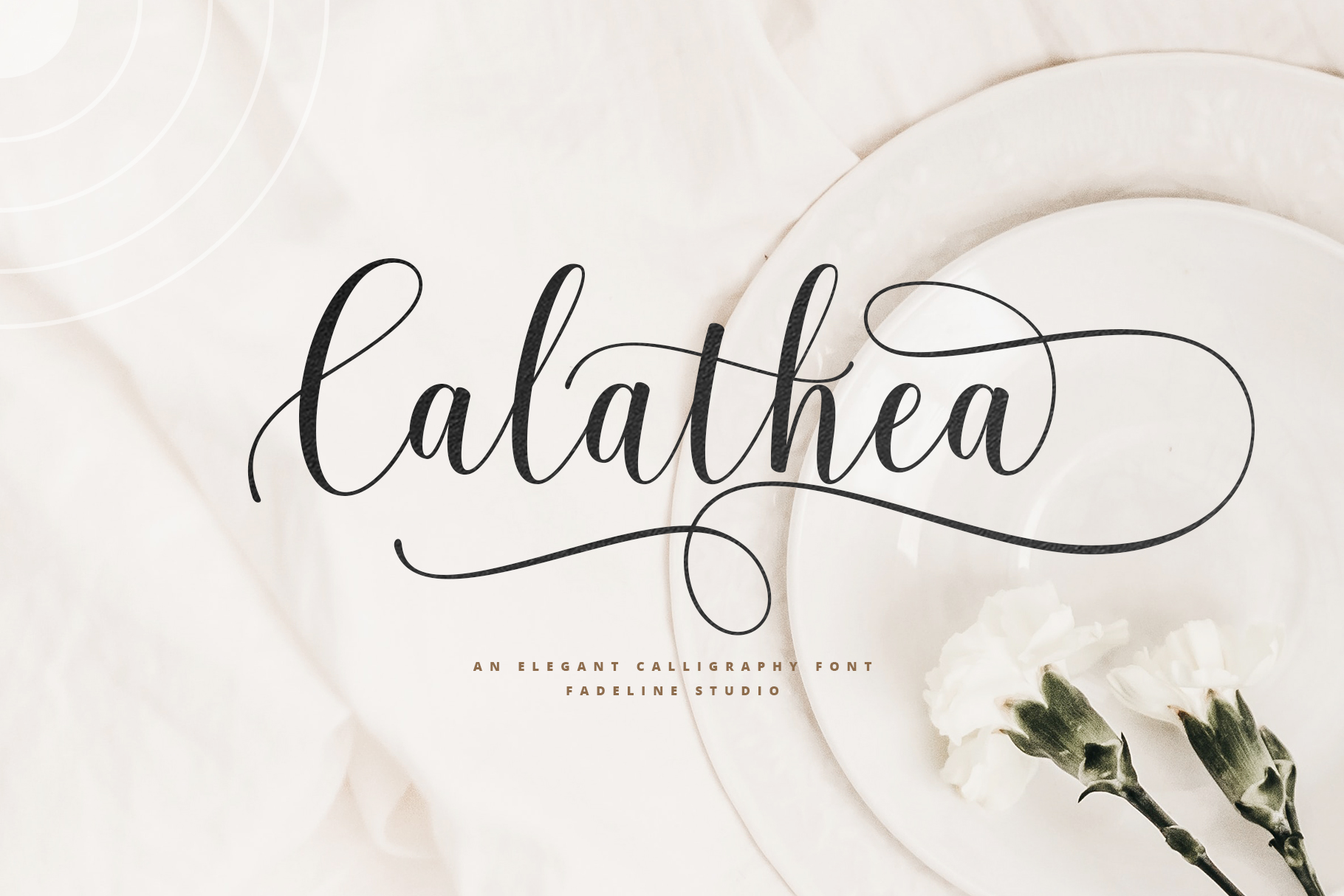Download Free Calathea Font By Fadeline Creative Fabrica for Cricut Explore, Silhouette and other cutting machines.