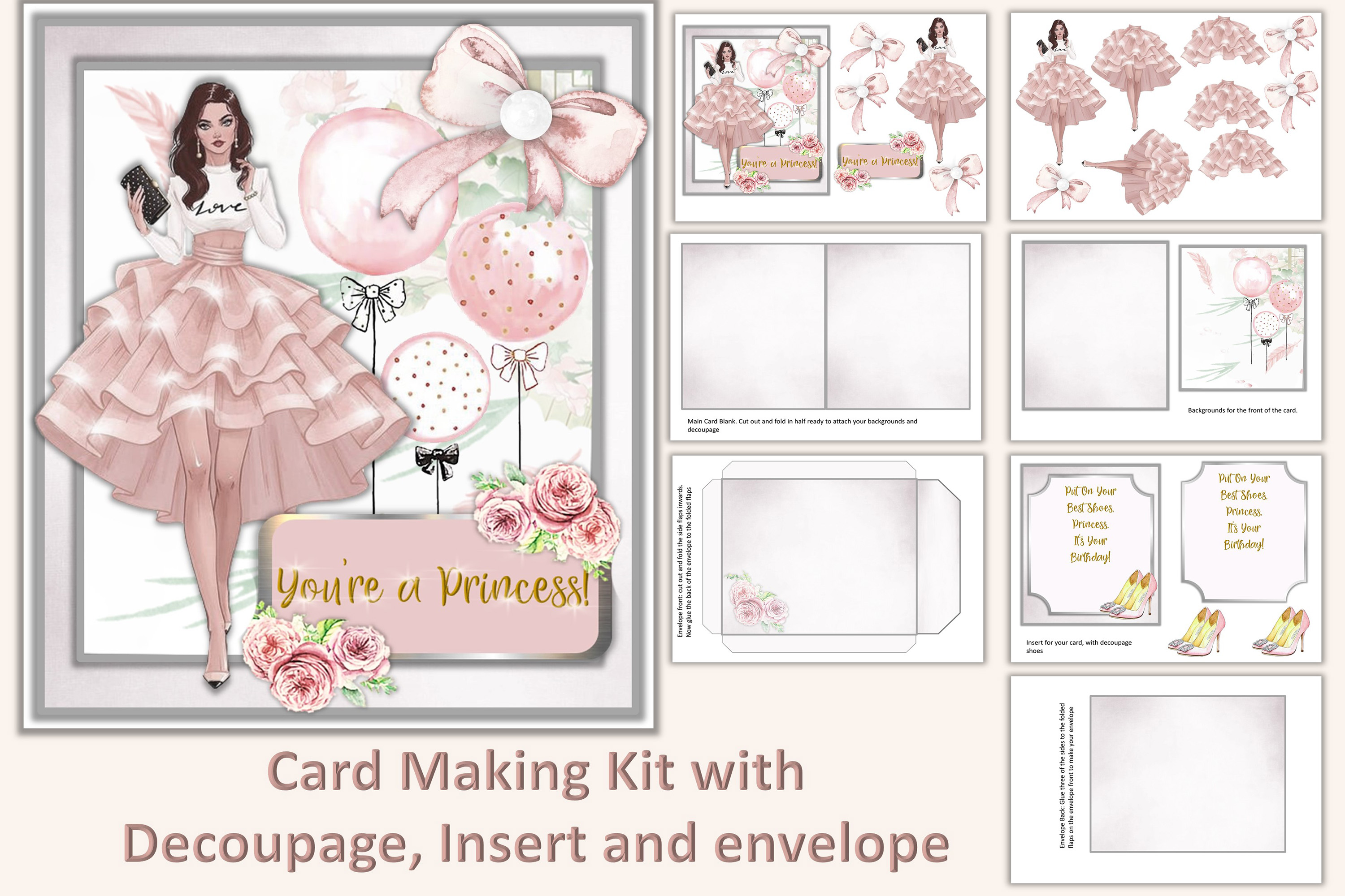 Download Free Card Making Kit Birthday Graphic By The Paper Princess for Cricut Explore, Silhouette and other cutting machines.