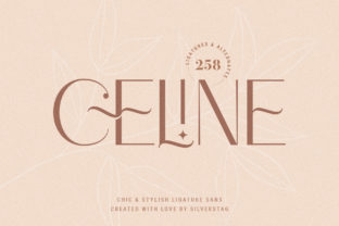 Print on Demand: Celine Sans Serif Font By SilverStag