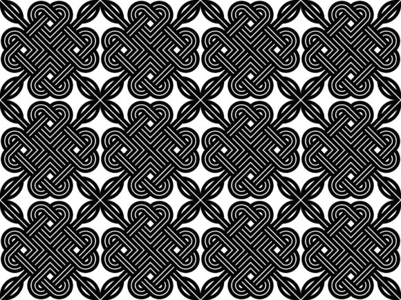 Celtic Knot Pattern Vector Graphic By Asesidea Creative Fabrica