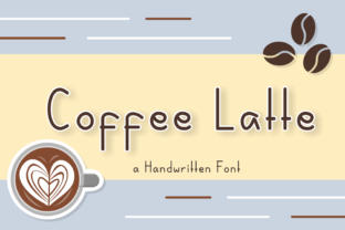 Print on Demand: Coffee Latte Script & Handwritten Font By nuraisyahamalia1729