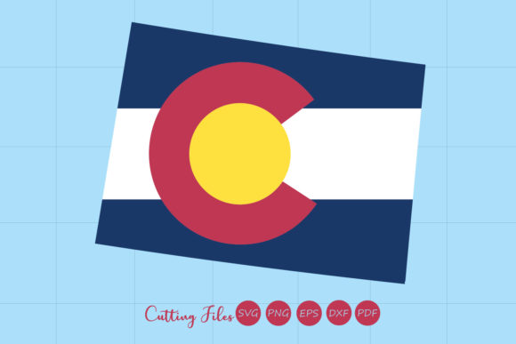 Colorado State With Flag Background Graphic By Hd Art Workshop