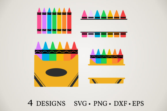 Crayon Bundle  Graphic Print Templates By Euphoria Design