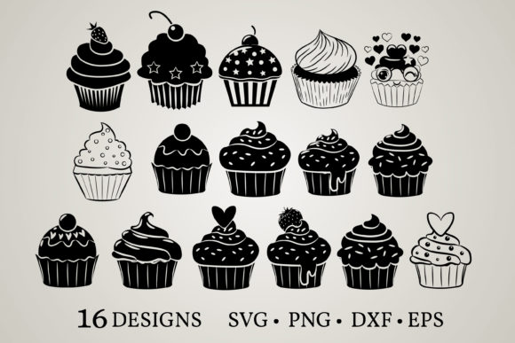 Cupcake Bundle  Graphic
