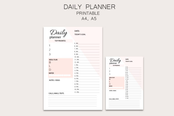 Daily Planner, Pink Planner Graphic Objects By Igraphic Studio