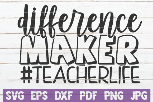 Download Free Difference Maker Graphic By Mintymarshmallows Creative Fabrica for Cricut Explore, Silhouette and other cutting machines.